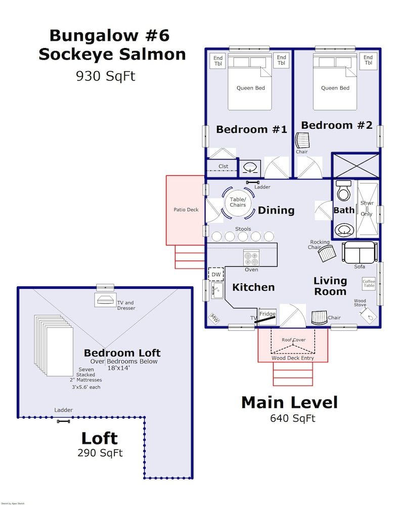 Floor plan, Brundage Bungalows