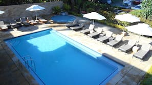 Outdoor pool, open 8:00 AM to 7:00 PM, free cabanas, pool umbrellas