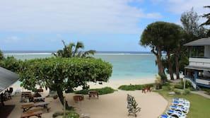 On the beach, snorkelling, beach bar, kayaking
