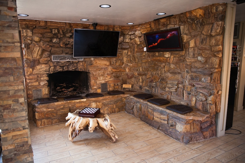 Fireplace, Pioneer Lodge