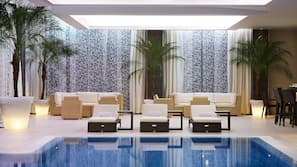 Indoor pool, seasonal outdoor pool, cabanas (surcharge), pool umbrellas