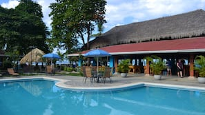 2 outdoor pools, open 8 AM to 10 PM, pool umbrellas, sun loungers