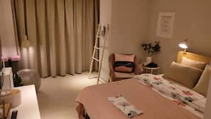 Free minibar, in-room safe, individually furnished, blackout curtains