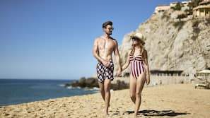 On the beach, free beach cabanas, beach massages, beach yoga