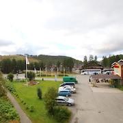 Utsikt mot gårdsplass