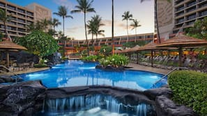 3 outdoor pools, cabanas (surcharge), sun loungers