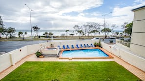 Outdoor pool, open 7:30 AM to 9:30 PM, sun loungers