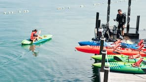 Scuba diving, snorkeling, kayaking, rowing
