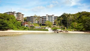 On the beach, free beach shuttle, free beach cabanas, sun-loungers