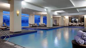 Indoor pool, 2 outdoor pools, open 6 AM to 11 PM, pool umbrellas