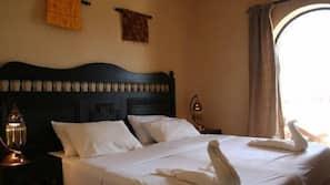 Roupas de cama de algodão egípcio, frigobar, cofres nos quartos