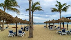해변에 위치, 비치 타월, 비치 발리볼, 비치 바