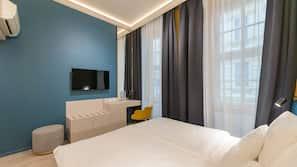 Select-Comfort-Betten, Zimmersafe, individuell dekoriert