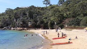 Private beach nearby, kayaking