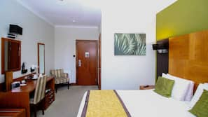 In-room safe, desk, laptop workspace, iron/ironing board