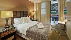 Egyptian cotton sheets, pillow-top beds, minibar, in-room safe