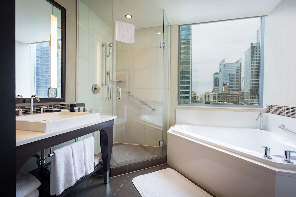 Bathroom, theWit Chicago - a DoubleTree by Hilton Hotel
