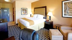 Premium bedding, down comforters, Tempur-Pedic beds, in-room safe