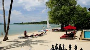 海灘、太陽傘、沙灘巾、海灘按摩
