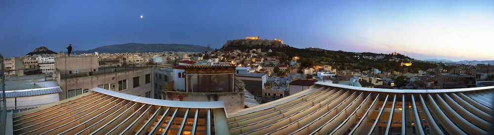 View from Property, Safestay Athens