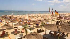 Private beach, beach towels