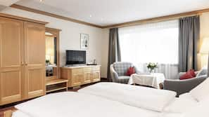 Pillowtop-Betten, Zimmersafe, Verdunkelungsvorhänge