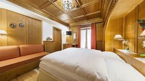 Frette Italian sheets, down comforters, Select Comfort beds