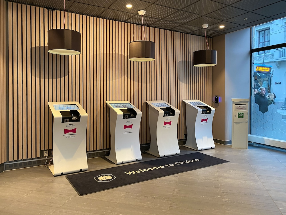 Check-in/Check-out Kiosk, Citybox Oslo