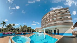 Indoor pool, outdoor pool, open 7:00 AM to 6:30 PM, sun loungers