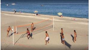 Privatstrand, Volleyball, Angeln