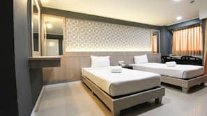 In-room safe, soundproofing, rollaway beds, free WiFi