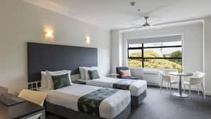 Premium bedding, Select Comfort beds, individually furnished, desk