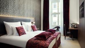 Premium bedding, memory foam beds, minibar, in-room safe