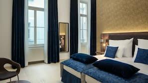 Biancheria da letto di alta qualità, materassi in memory foam, minibar