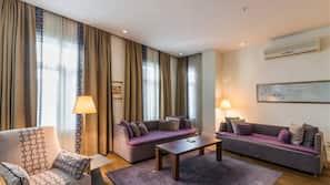 Premium bedding, down comforters, Select Comfort beds, in-room safe