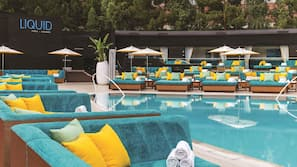 3 outdoor pools, open 9:00 AM to 5:00 PM, pool cabanas (surcharge)