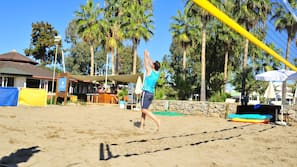 Plage, beach-volley