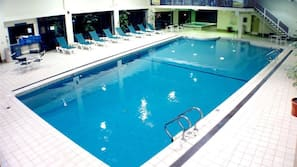 Indoor pool, seasonal outdoor pool, sun loungers
