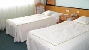 Hypo-allergenic bedding, desk, rollaway beds, free WiFi