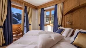 Biancheria da letto di alta qualità, materassi Select Comfort, minibar