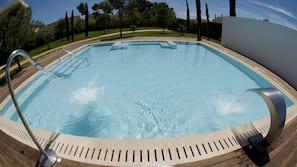 Indoor pool, 3 outdoor pools, pool umbrellas