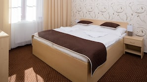 In-room safe, cribs/infant beds, free wired internet, bed sheets