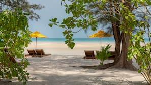 On the beach, beach shuttle, scuba diving, snorkelling