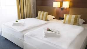 Allergivenligt sengetøj, pengeskab, mørklægningsgardiner, gratis Wi-Fi