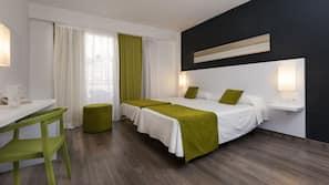 In-room safe, desk, blackout curtains, bed sheets