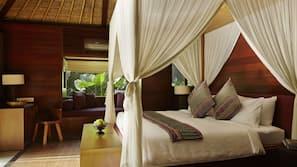 Bộ đồ giường cao cấp, minibar với thức uống miễn phí