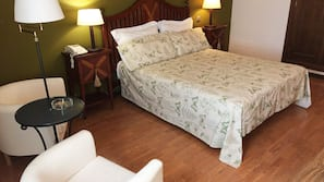 Down comforters, individually decorated, individually furnished, desk