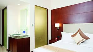 Minibar, in-room safe, desk, free rollaway beds