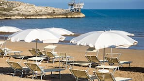 Private beach, white sand, free beach shuttle, sun-loungers