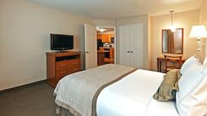 Desk, laptop workspace, iron/ironing board, rollaway beds